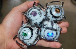 Mini Replica Portal 2 Personality Cores (video)