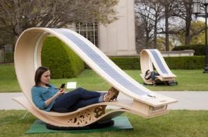 SOFT Rocker, The Solar Powered Lounge Chair