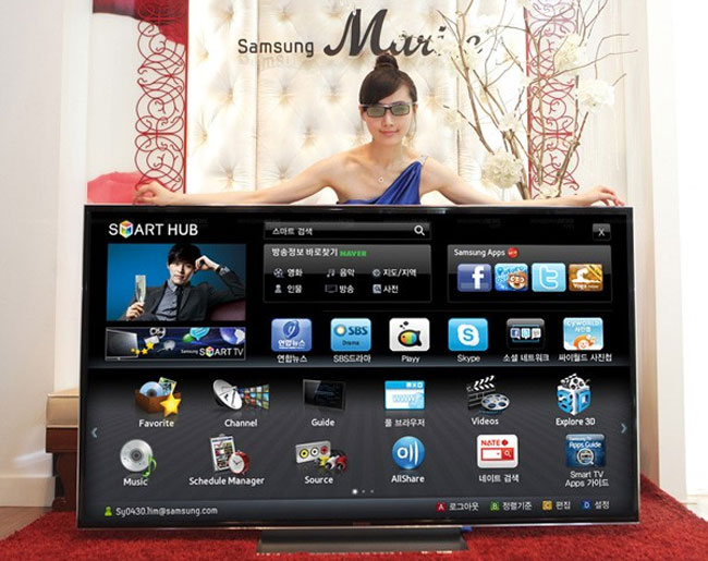 Smaung 75 inch 3d tv