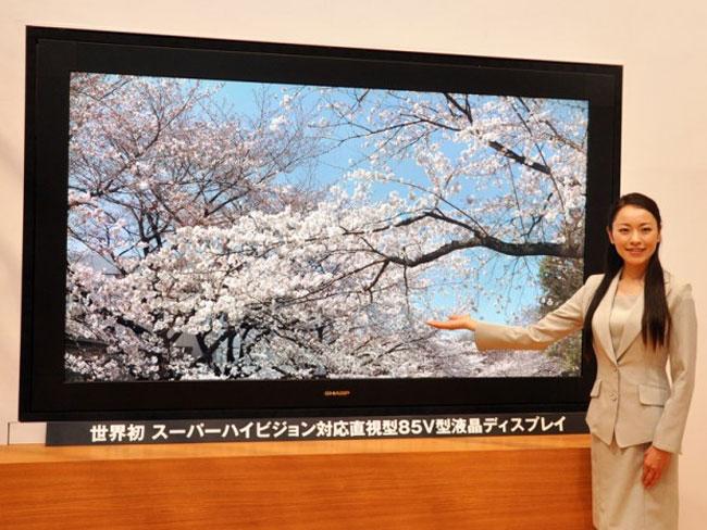 Sharp Unveils 85 inch Super High resolution Prototype TV