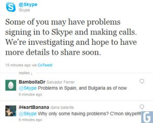 Skype Goes Down, Many Users Unable To Log In