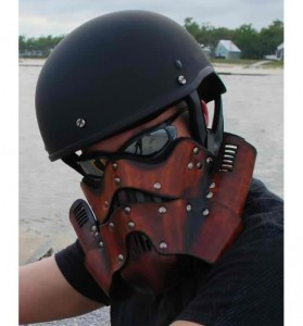 Leather Stormtrooper Motorcycle Mask Looks Wicked