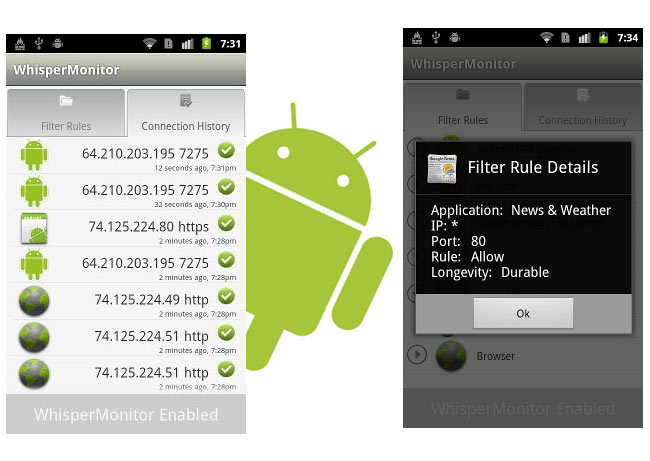WhisperMonitor Android
