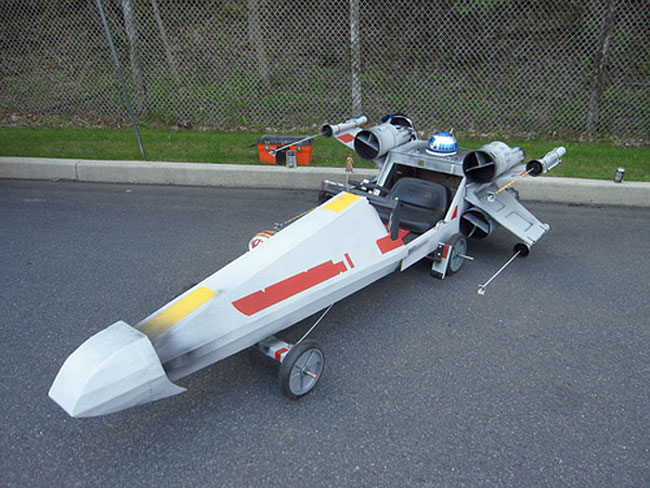 X-Wing Fighter Soapbox Derby Car