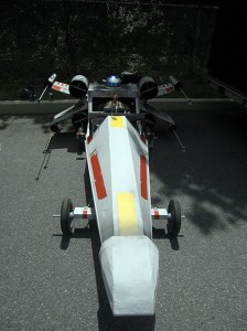 Awesome X-Wing Fighter Soapbox Derby Car