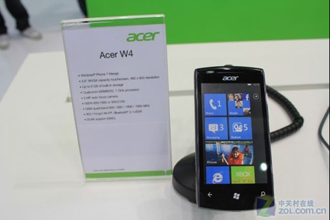 Acer W7 smartphone