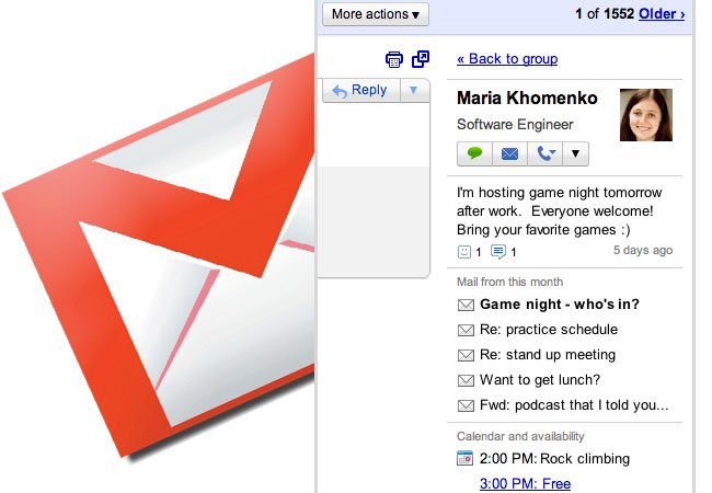 Gmail People Widget
