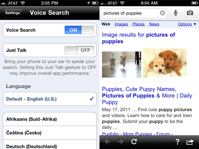 Google's Search iPhone App Gets Updated