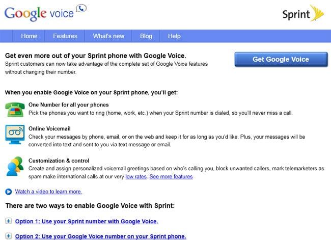 Google Voice Sprint