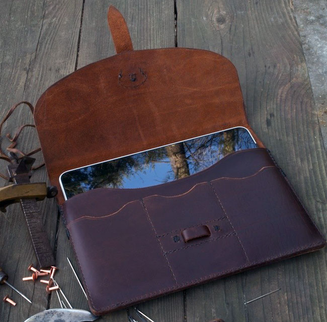 handmade leather ipad 2 case
