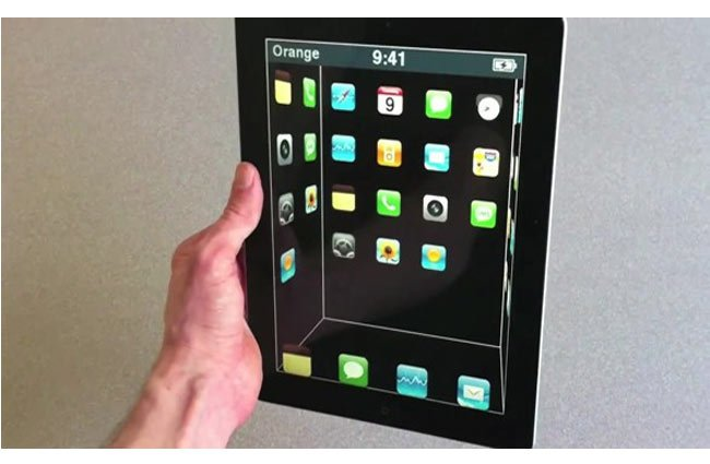 iPad 3D interface