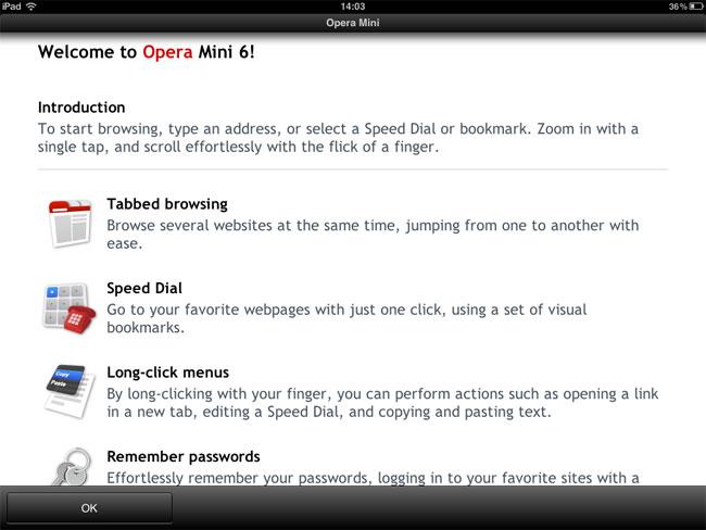 Opera Mini Arrives On The iPad