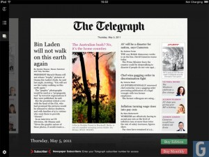 Telegraph IPad App