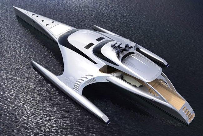 Adastra Trimaran Super Yacht