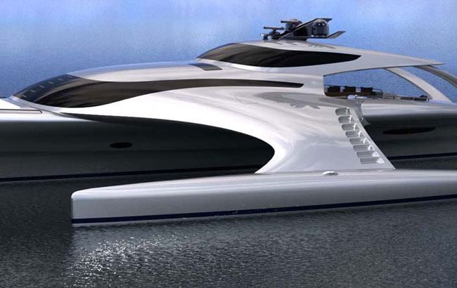 Adastra Trimaran Super Yacht Looks Like A Space Ship