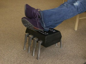 Homemade 555 Timer Chip Footstool Looks Like The Real Thing