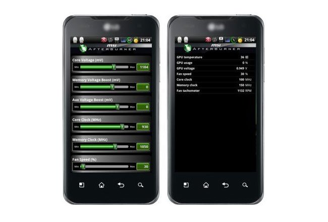 MSI Android Afterburner Overlocking App