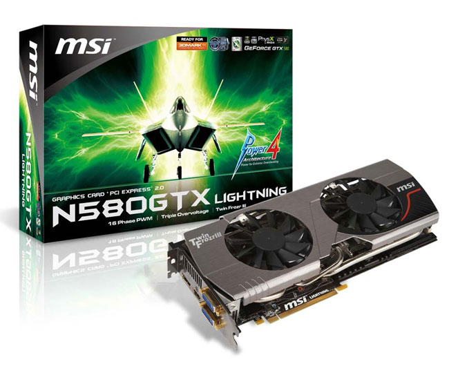 N580GTX Lightning graphics card