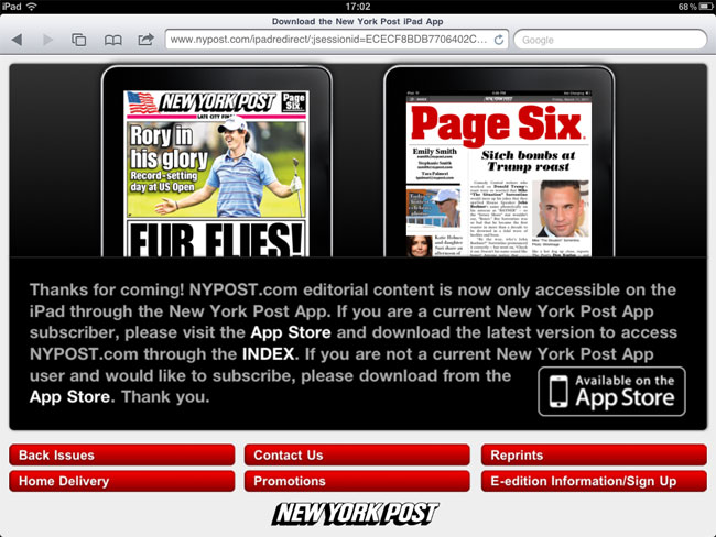 New York Post iPad