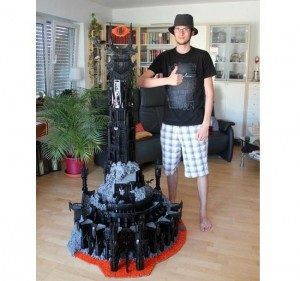 Sauron Lives! Enthusiast Builds Dark Tower With Flaming Eye