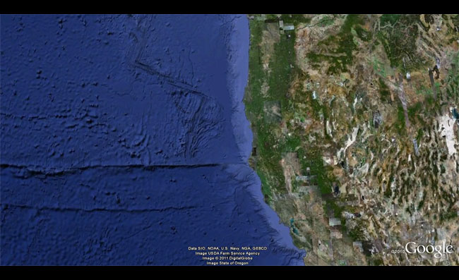 Seafloor Google Earth