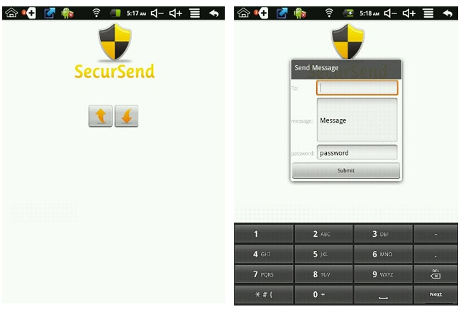 SecurSend Lite Android App