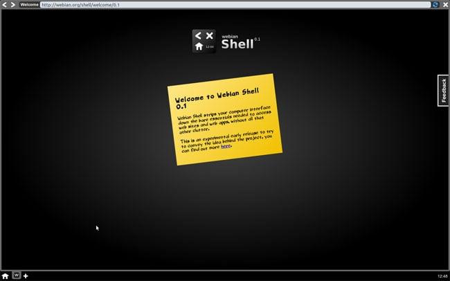 Webian Shell 0.1