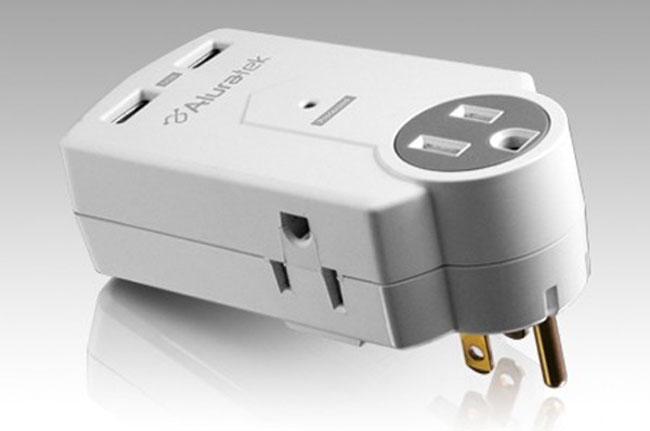 AUCS05F Mini Surge Dual USB Charging Station