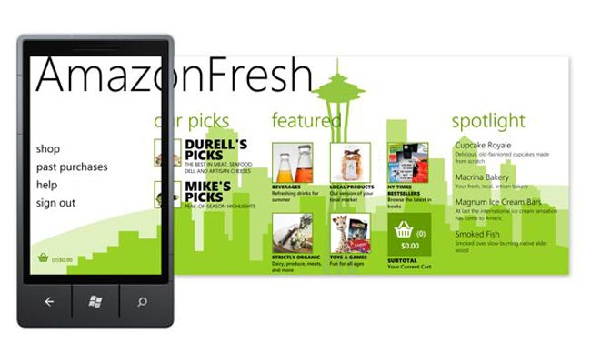 AmazonFresh Windows Phone 7
