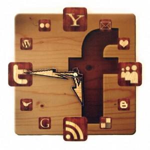 The Facebook Icon Wall Clock