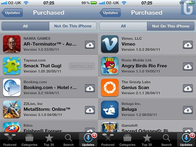 iCloud iTunes App