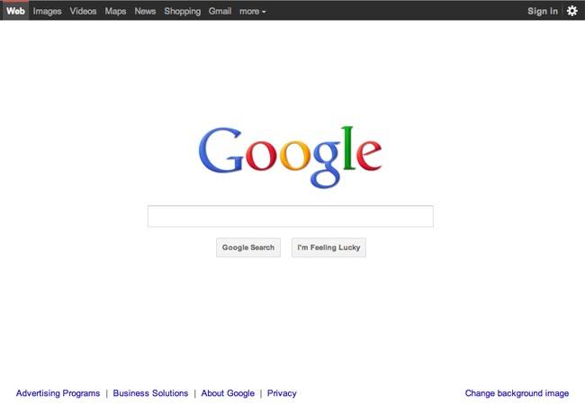 New Google Homepage