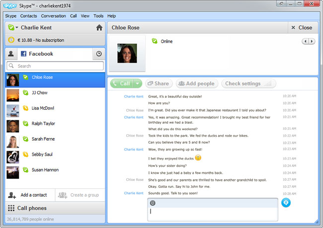 Skype 5.5 Beta With Facebook Integration