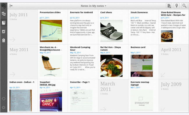 Android Evernote Tablet