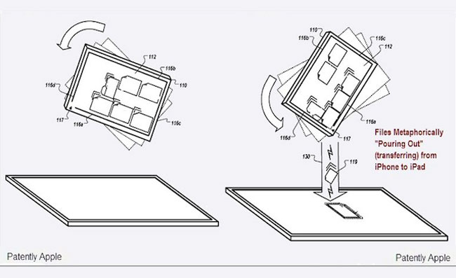 Apple Pouring Patent