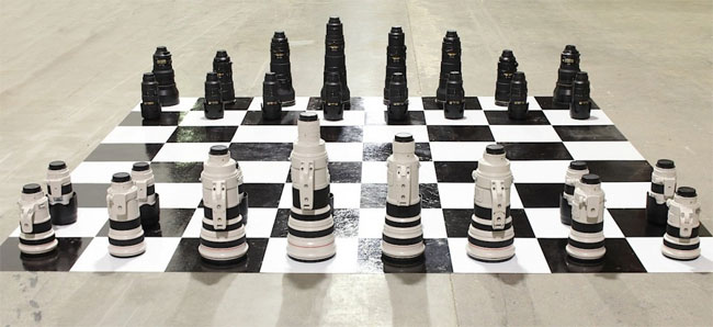 Camera Lens Chess Set