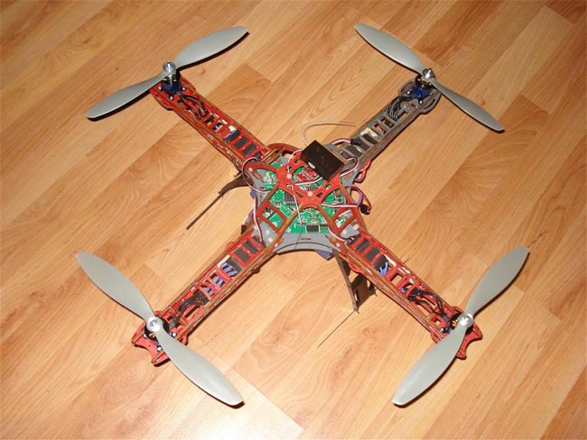 Diy radio controlled quadrocopter video for Diy gadgets