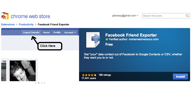 Facebook Friend Exporter