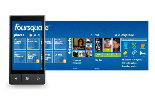 Foursquare Windows Phone 7 App