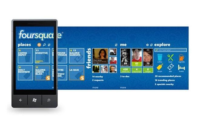 Foursquare Windows Phone 7 App