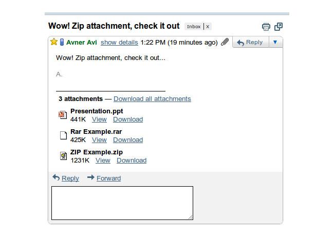 Google Docs ZIP RAR