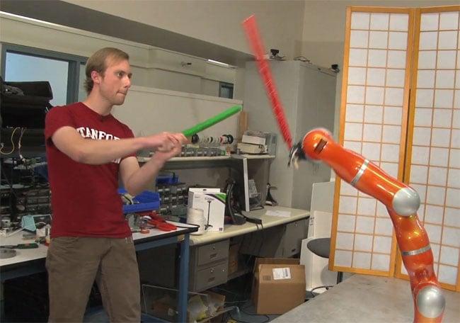 Kinect Lightsaber Robot