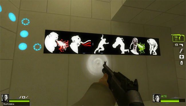 Left 4 Dead 2 Portal 2 Easter Egg