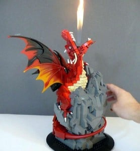 Fearsome Fire And Flame From Lego Dragon (Video)