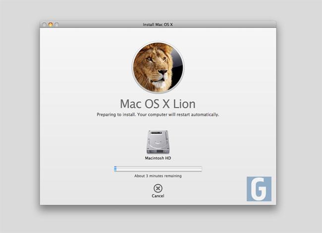 OS X Lion Install