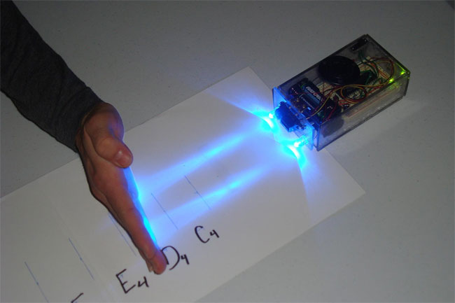 Optical Theremin Uses Infrared Light