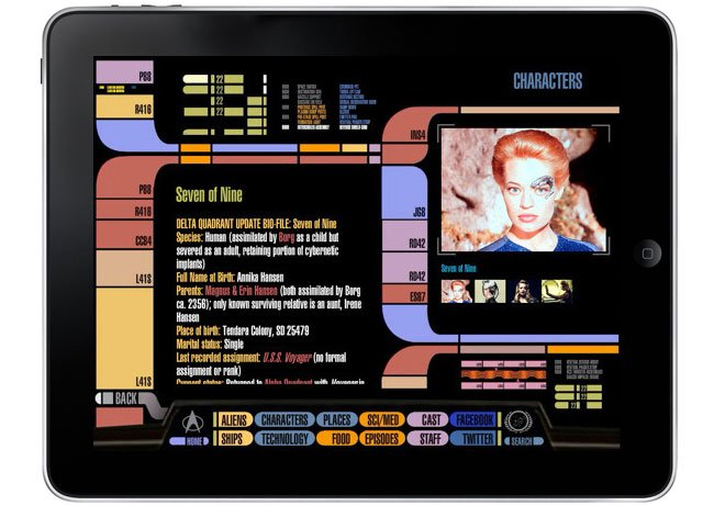 Star Trek PADD iPad App