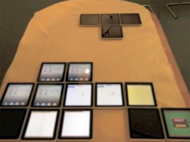Tetris Recreated Using 18 iPads