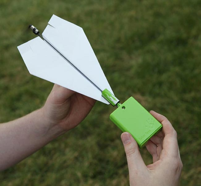 Electric Propeller Makes Your Paper Airplane Go Further