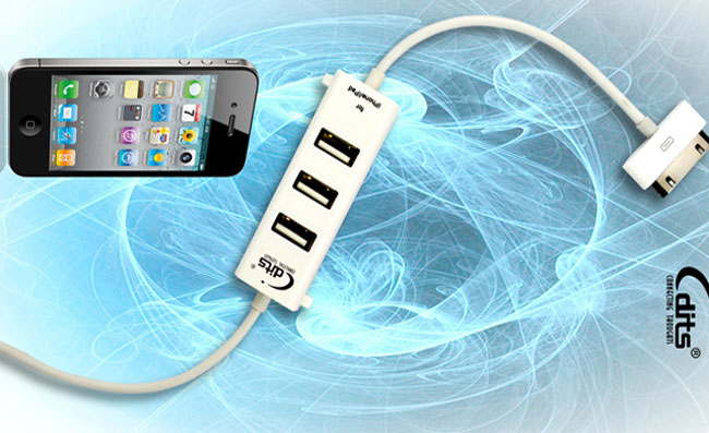 iPad, iPhone Sync And USB Hybrid Cable